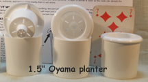 "1.5"" oyama planter white"